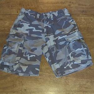Mens Camouflage Cargo Shorts American Rag 32 Waist